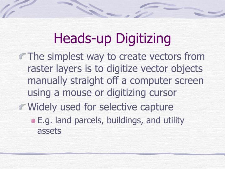 Heads-up Digitizing