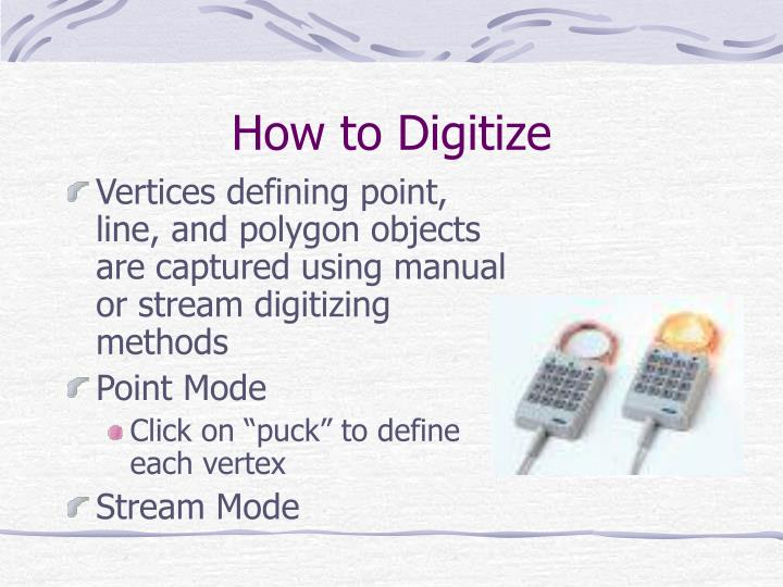 How to Digitize