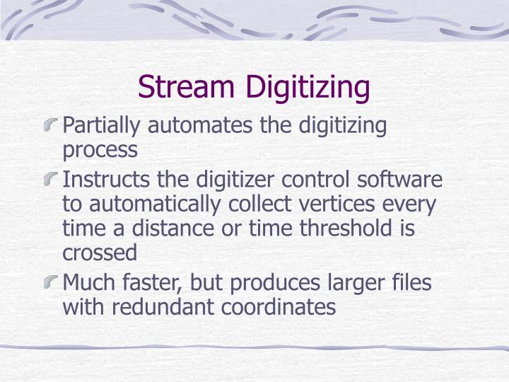 Stream Digitizing