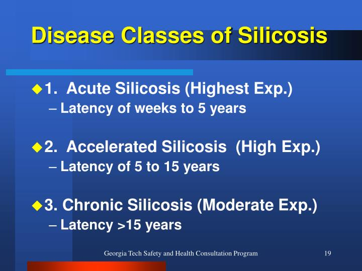Disease Classes of Silicosis