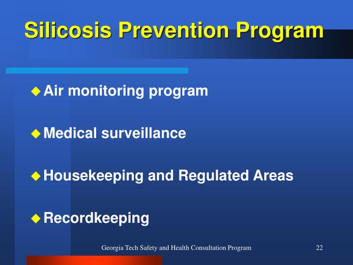 Silicosis Prevention Program