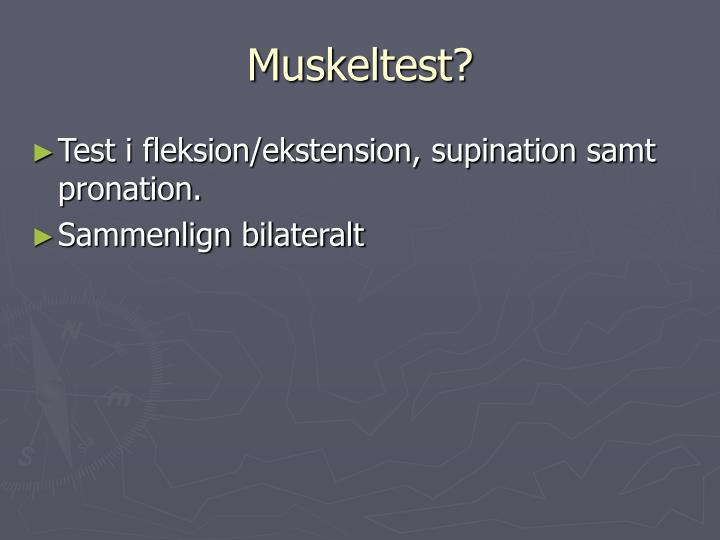 Muskeltest?