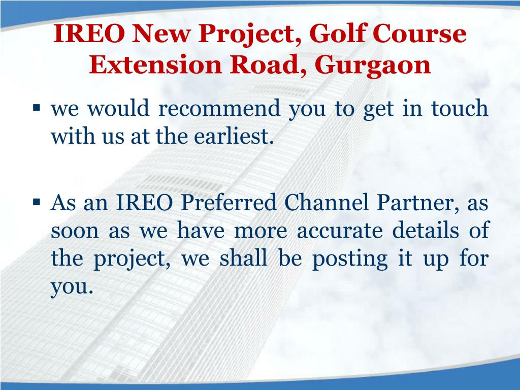 IREO New Project, Golf Course Extension Road, Gurgaon