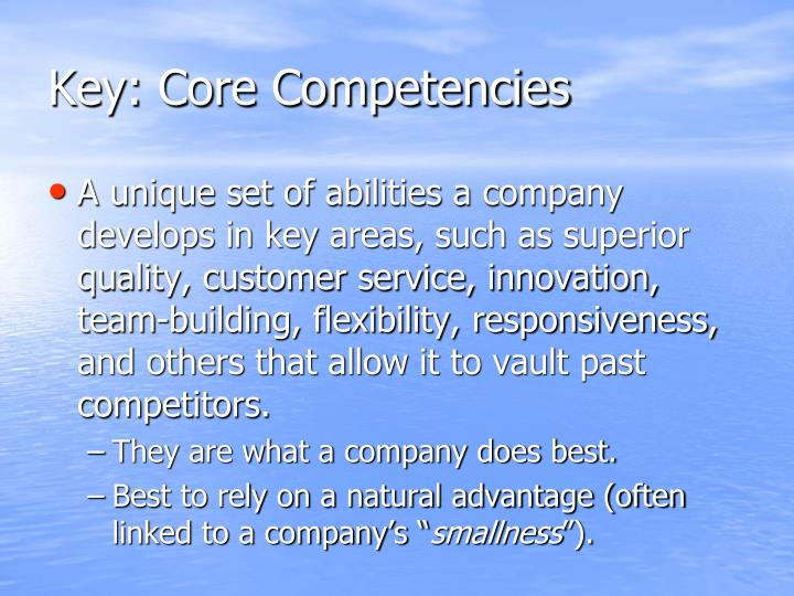 Key: Core Competencies