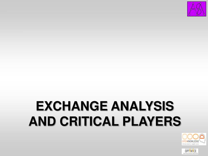 EXCHANGE ANALYSIS