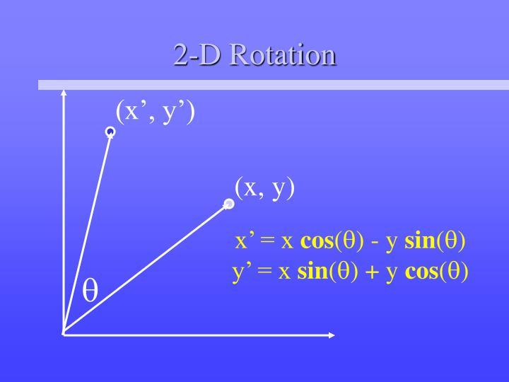 2-D Rotation