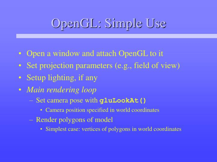 opengl simple use