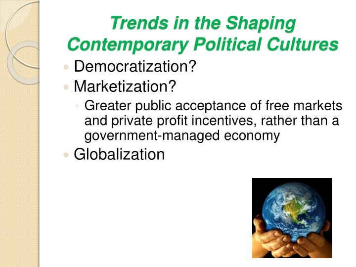 Trends in the Shaping Contemporary Political Cultures