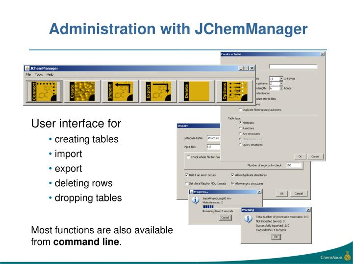 Administration with JChemManager