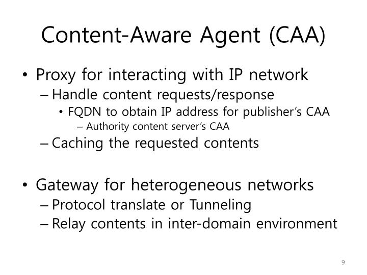 Content-Aware Agent (CAA)