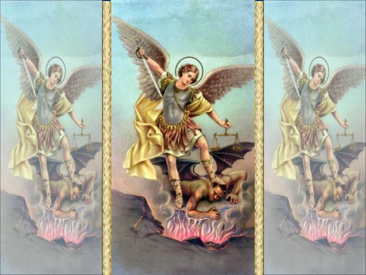 """""""Ó Deus que organizais de modo admirável o serviço dos anjos e dos homens, fazei que sejamos protegidos na terra por aqueles que Vos assistem continuamente nos céus."""" (Oração da coleta da Missa)"""