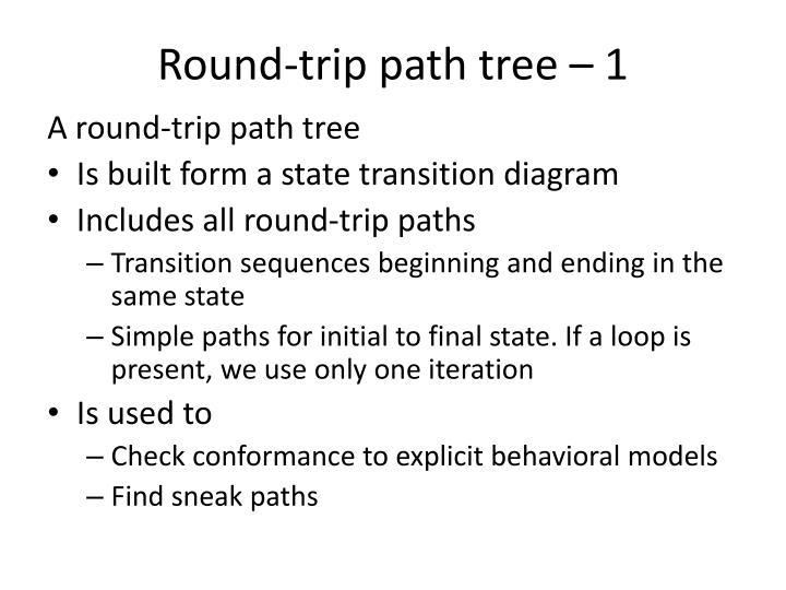 A round-trip path tree