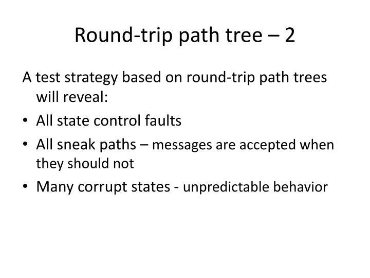 Round-trip path tree – 2