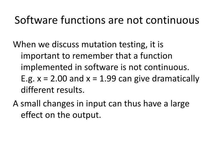 Software functions are not continuous