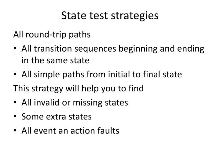 State test strategies