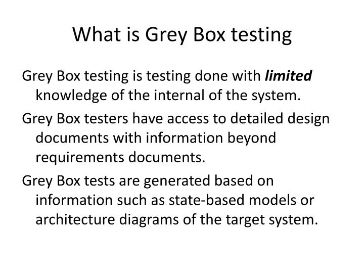 What is grey box testing