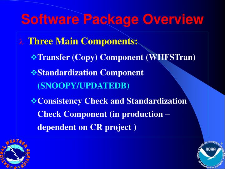 Software Package Overview