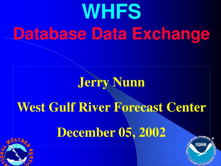 Whfs database data exchange
