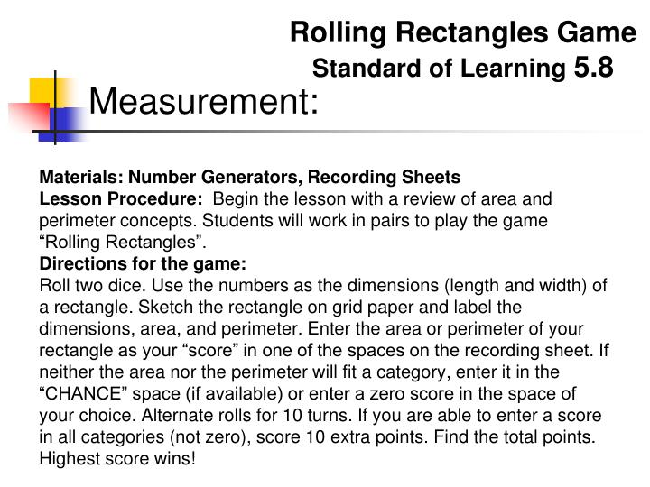 Rolling Rectangles Game