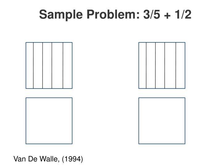 Sample Problem: 3/5 + 1/2