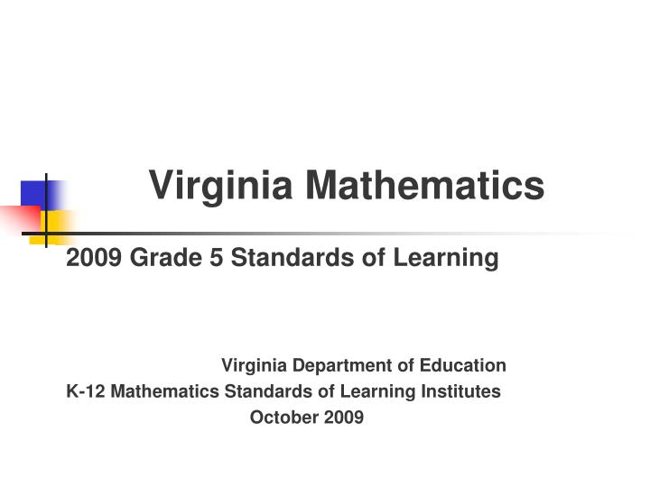 Virginia mathematics