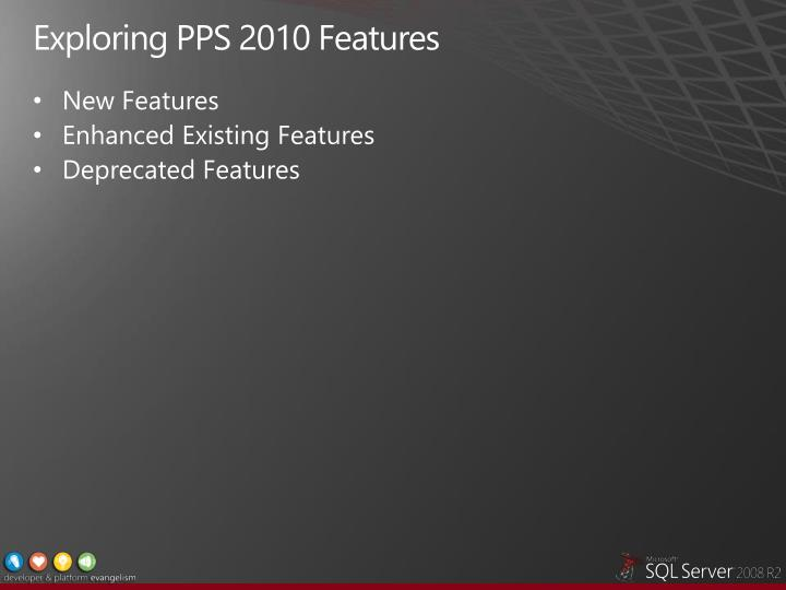 Exploring PPS 2010 Features