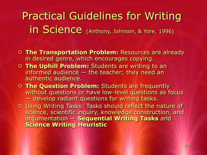 Practical Guidelines for Writing in Science