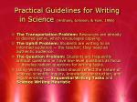 practical guidelines for writing in science anthony johnson yore 1996