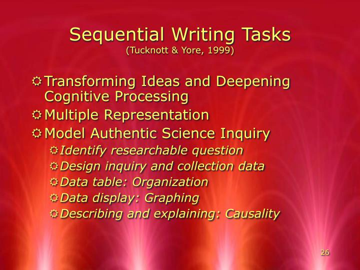 Sequential Writing Tasks