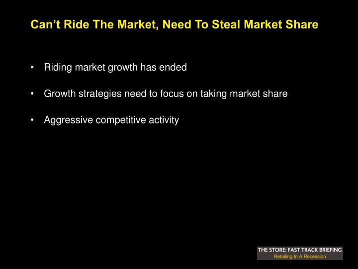 Can't Ride The Market, Need To Steal Market Share