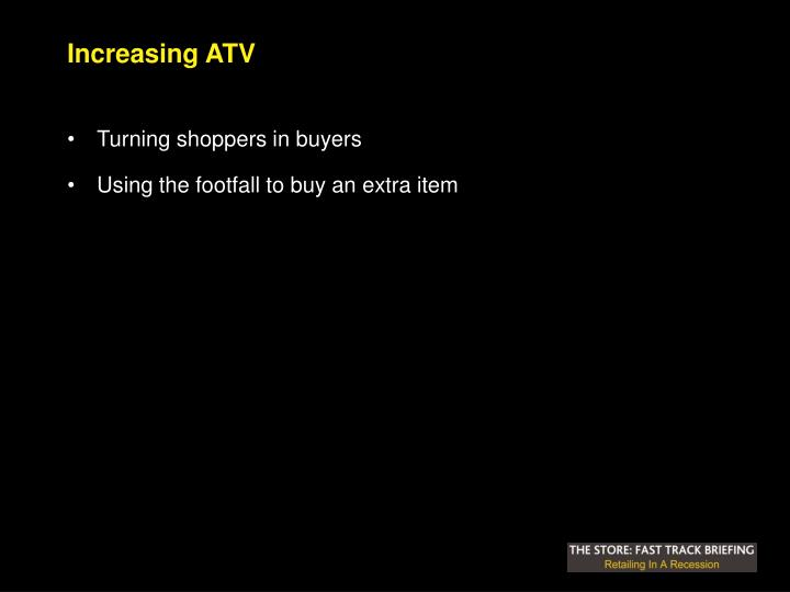 Increasing ATV