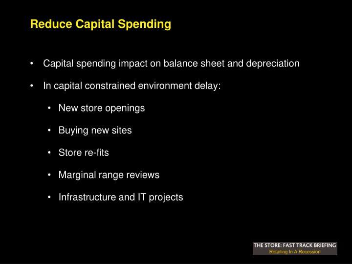 Reduce Capital Spending