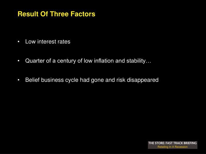Result Of Three Factors