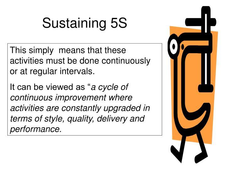 Sustaining 5S