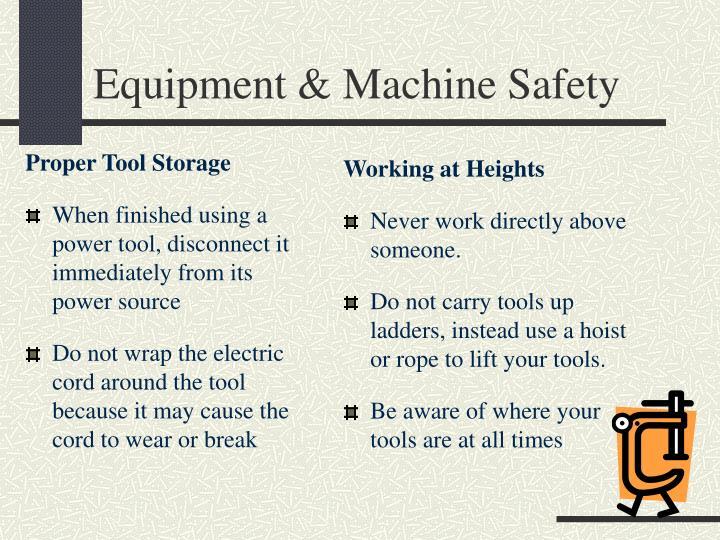 Proper Tool Storage