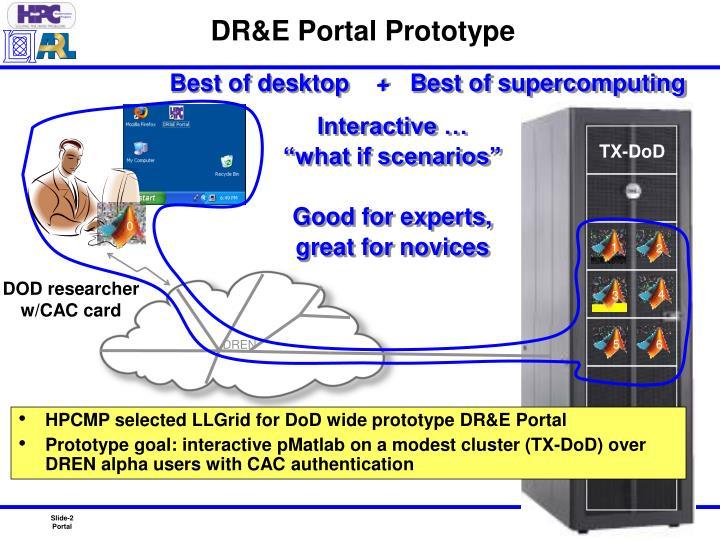 DR&E Portal Prototype