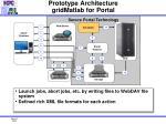 prototype architecture gridmatlab for portal