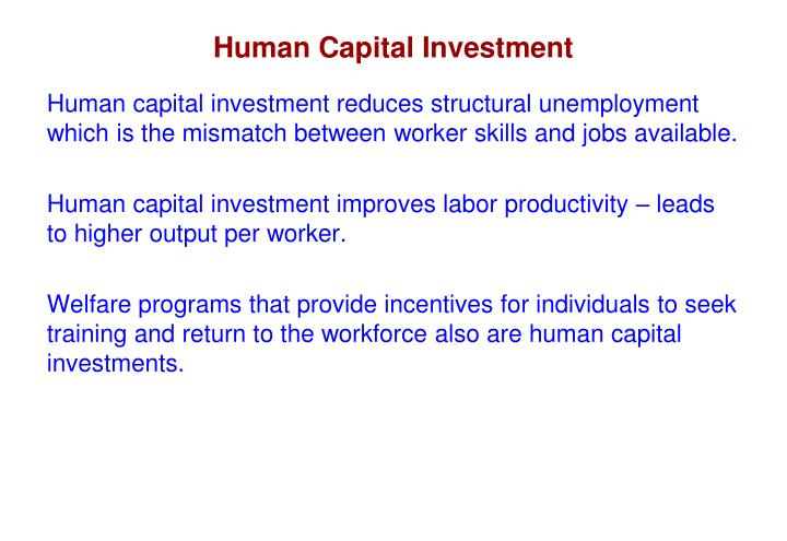 Human Capital Investment