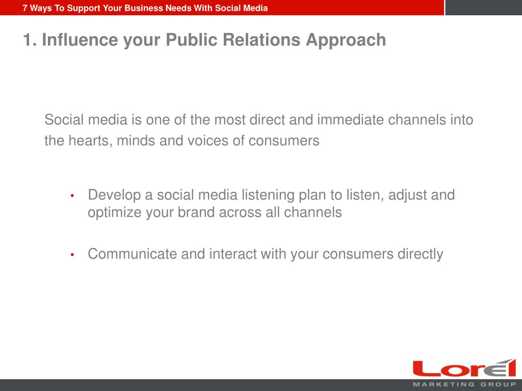 1. Influence your Public Relations Approach