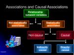 associations and causal associations