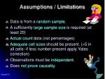 assumptions limitations