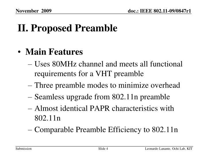 II. Proposed Preamble