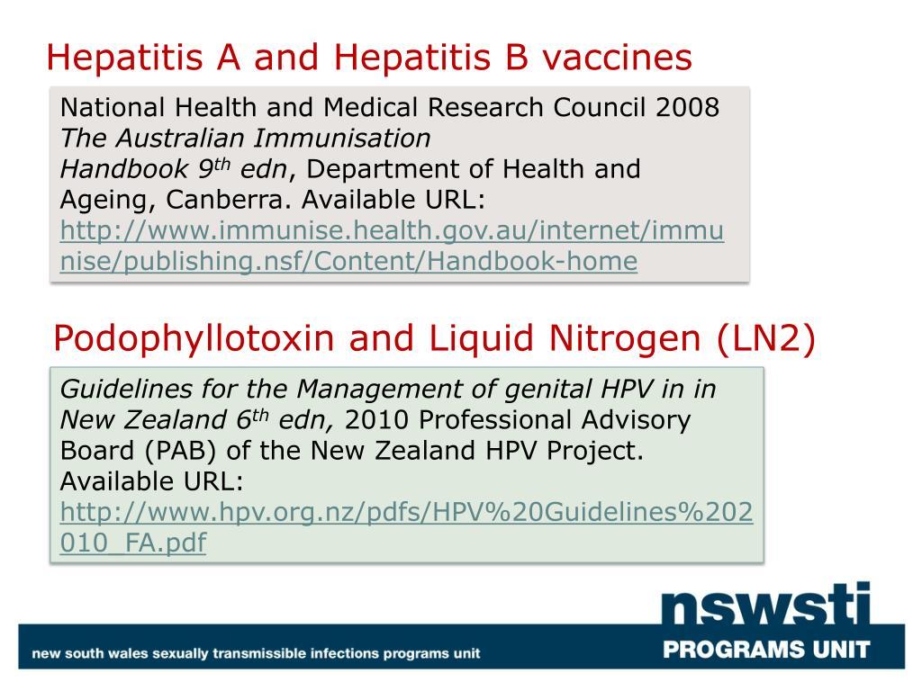 Hepatitis A and Hepatitis B vaccines