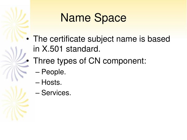 Name Space