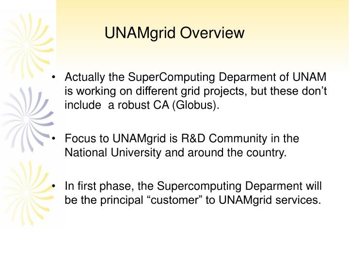Unamgrid overview
