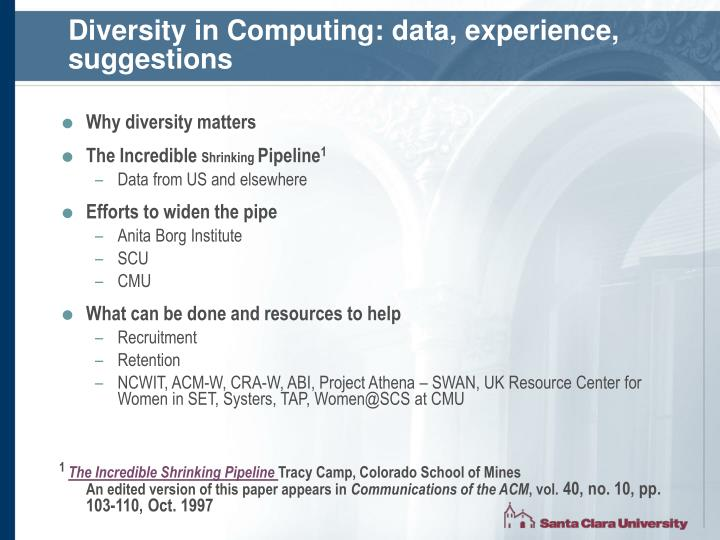 Diversity in computing data experience suggestions