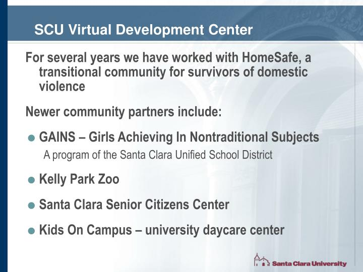 SCU Virtual Development Center