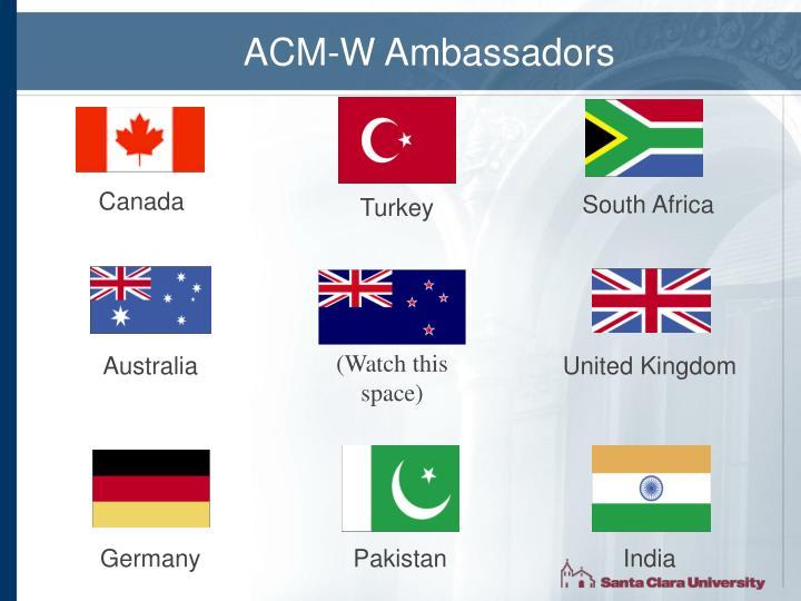 ACM-W Ambassadors