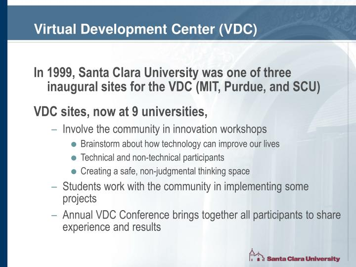 Virtual Development Center (VDC)