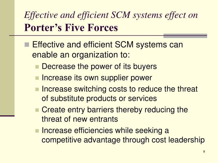 Effective and efficient SCM systems effect on
